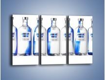 Obraz na płótnie – Czysta wódka w butelkach – trzyczęściowy JN748W2