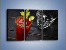 Obraz na płótnie – Czerwony drink z selerem – trzyczęściowy JN751W2
