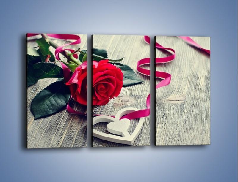 Obraz na płótnie – Od serca aż po różę – trzyczęściowy K1013W2
