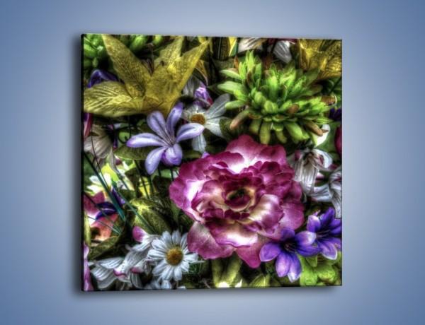 Obraz na płótnie – Kwiaty w różnych odcieniach – jednoczęściowy kwadratowy GR318