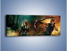 Obraz na płótnie – Bohater i jego dama – jednoczęściowy panoramiczny GR169