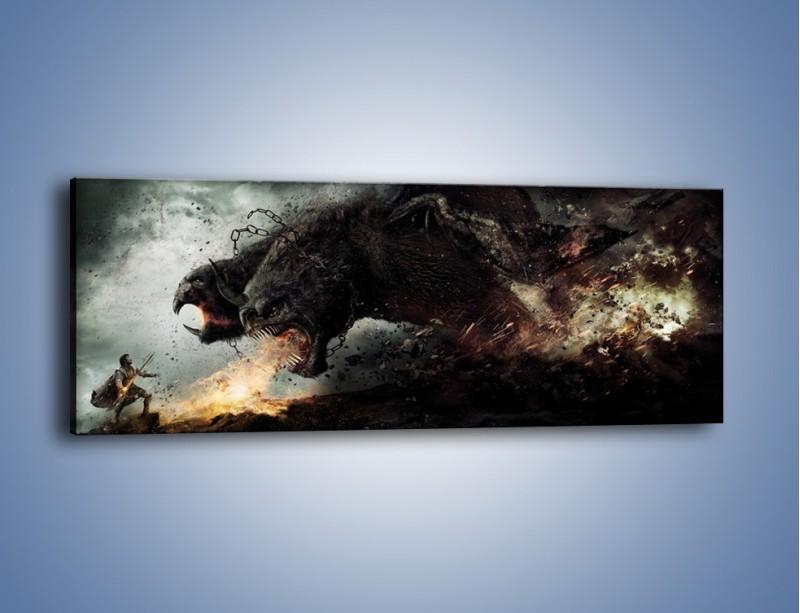 Obraz na płótnie – Groźny podmuch potworów – jednoczęściowy panoramiczny GR174