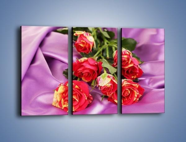 Obraz na płótnie – Błogi odpoczynek z różą – trzyczęściowy K251W2