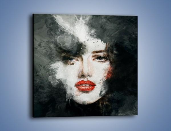 Obraz na płótnie – Czarna dama – jednoczęściowy kwadratowy GR329