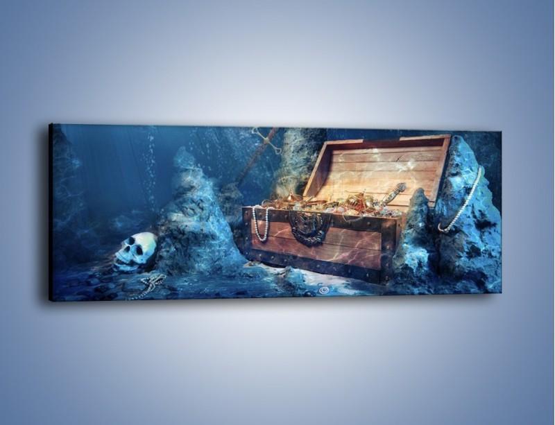 Obraz na płótnie – Zatopione skarby – jednoczęściowy panoramiczny GR205