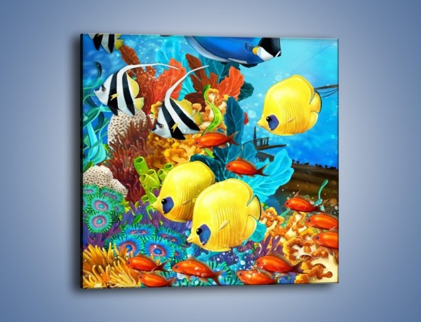 Obraz na płótnie – Mieszkańcy podwodnej krainy – jednoczęściowy kwadratowy GR331