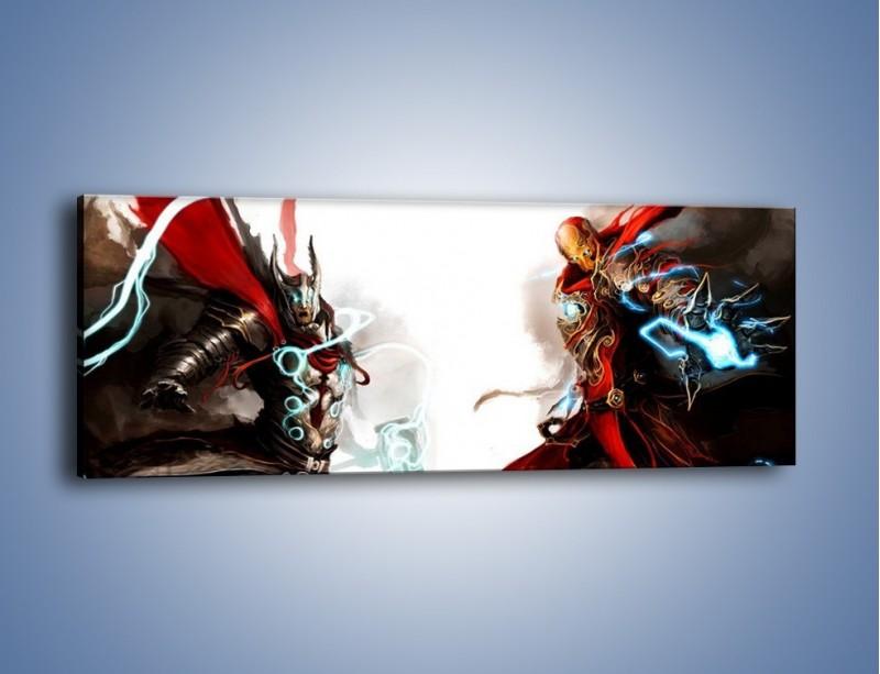 Obraz na płótnie – Walka z potężną siłą – jednoczęściowy panoramiczny GR207