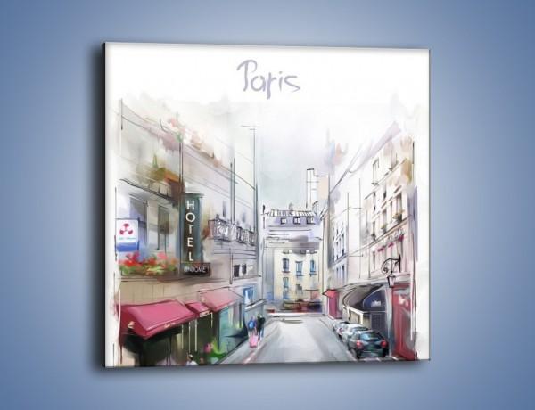 Obraz na płótnie – Urok paryża za dnia – jednoczęściowy kwadratowy GR342