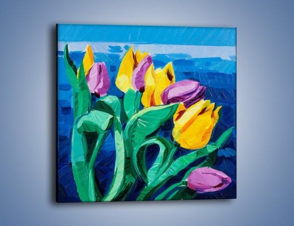 Obraz na płótnie – Kto nie lubi tulipanów – jednoczęściowy kwadratowy GR344