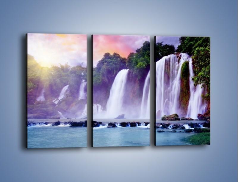 Obraz na płótnie – Wodospady jak z bajki – trzyczęściowy KN026W2