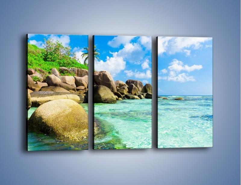 Obraz na płótnie – Lazurowa woda w tropikach – trzyczęściowy KN035W2