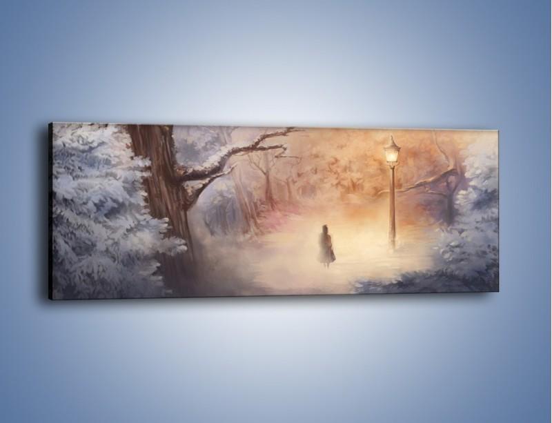Obraz na płótnie – Samotnie w otchłań – jednoczęściowy panoramiczny GR241