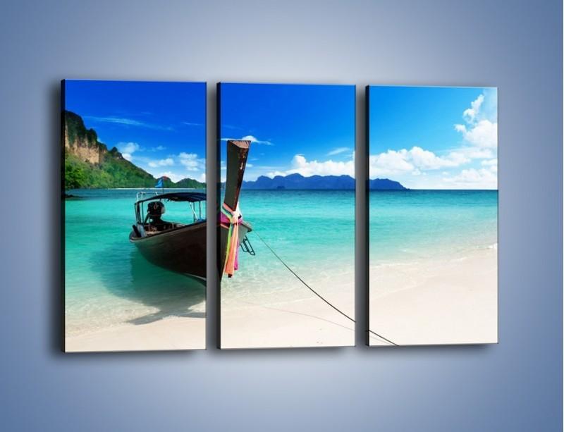 Obraz na płótnie – Wodny transport w tajlandii – trzyczęściowy KN083W2