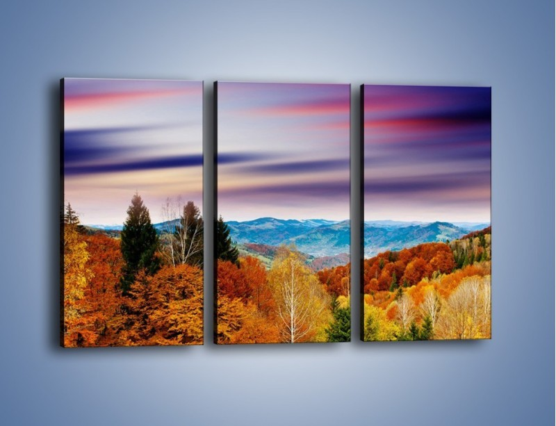 Obraz na płótnie – Drzewa w kolorach jesieni – trzyczęściowy KN099W2