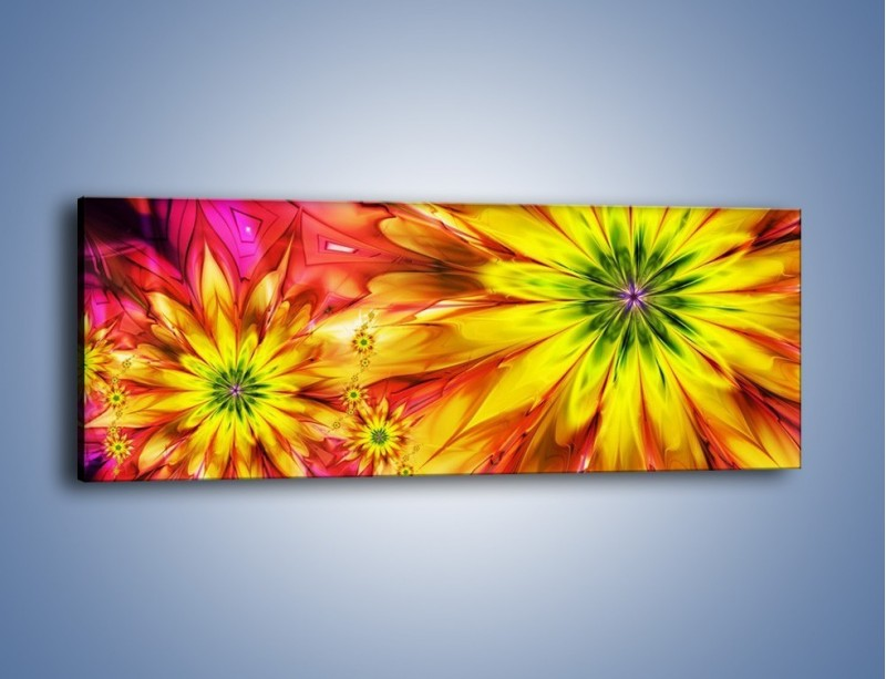 Obraz na płótnie – Moc w kwiecie – jednoczęściowy panoramiczny GR243