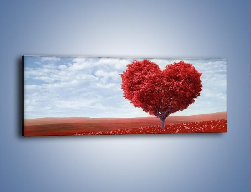 Obraz na płótnie – Polaną w stronę miłości – jednoczęściowy panoramiczny GR249