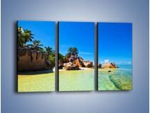 Obraz na płótnie – Bezludna wyspa i ja – trzyczęściowy KN1058W2