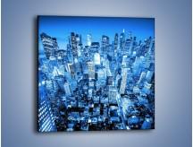 Obraz na płótnie – Centrum miasta w niebieskich kolorach – jednoczęściowy kwadratowy AM042
