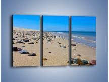 Obraz na płótnie – Całe morze kamyczków – trzyczęściowy KN1086AW2
