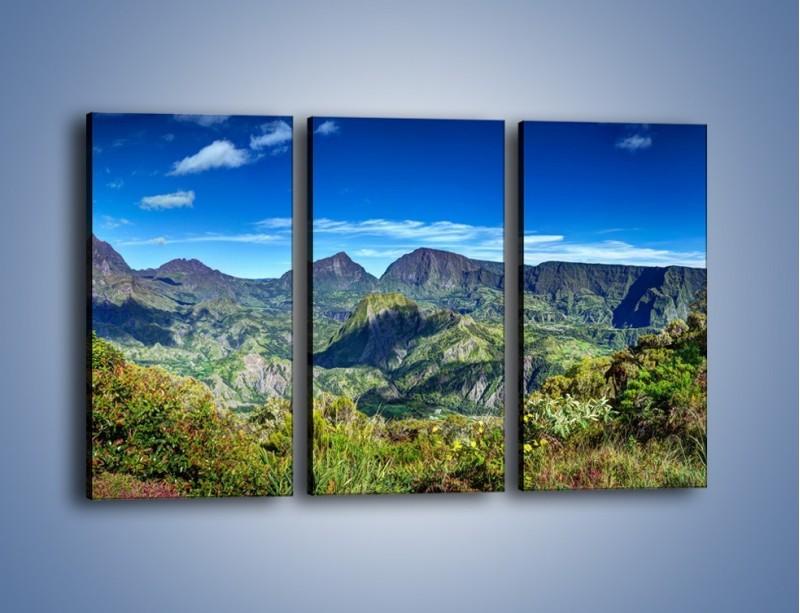 Obraz na płótnie – Zieleń ukryta wysoko w górach – trzyczęściowy KN1106W2