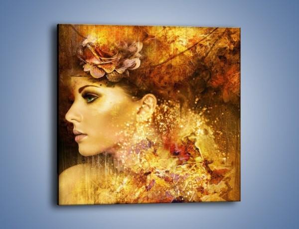 Obraz na płótnie – Kobieta złotem obsypana – jednoczęściowy kwadratowy GR350