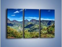 Obraz na płótnie – Cały góry pokryte zielenią – trzyczęściowy KN1140AW2