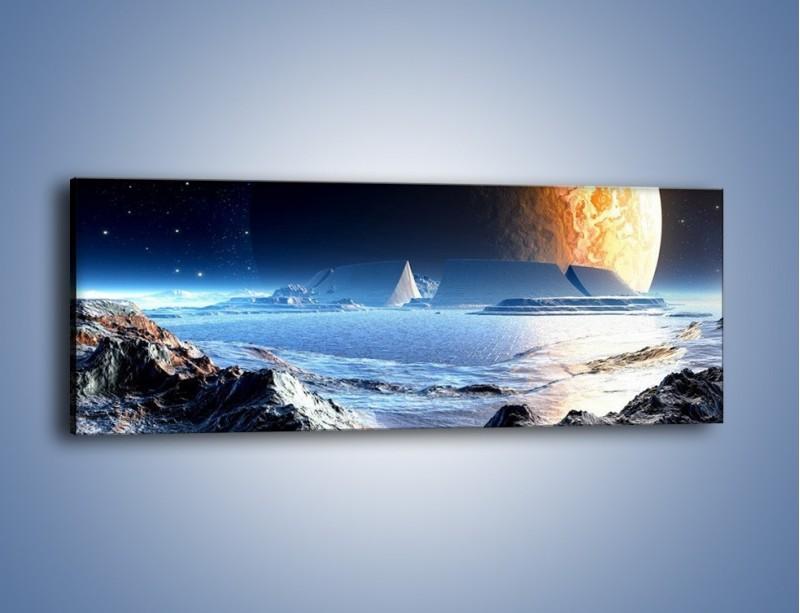 Obraz na płótnie – W podniebnej krainie – jednoczęściowy panoramiczny GR262
