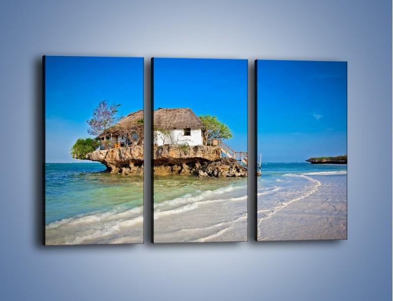 Obraz na płótnie – Dom na skarpie – trzyczęściowy KN1150AW2