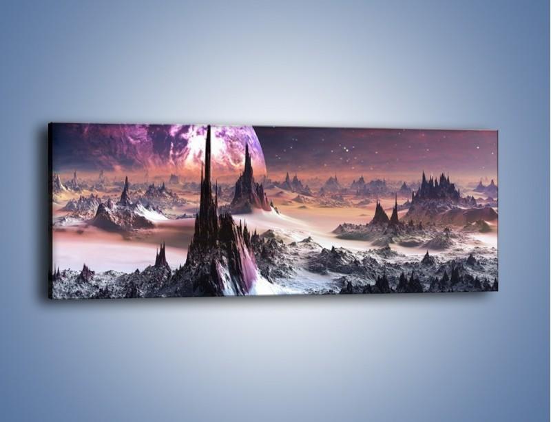 Obraz na płótnie – Samotność przy gwiazdach – jednoczęściowy panoramiczny GR263