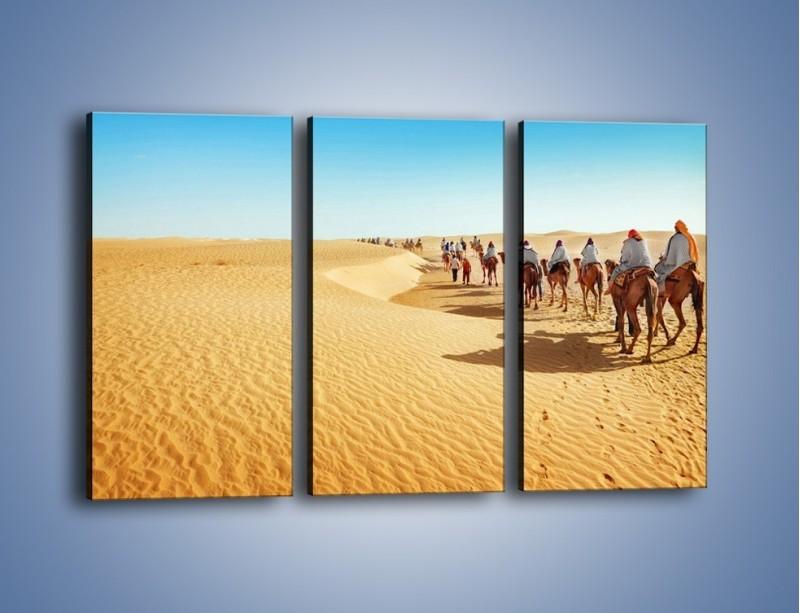 Obraz na płótnie – Szła karawana przez pustynię – trzyczęściowy KN1173AW2