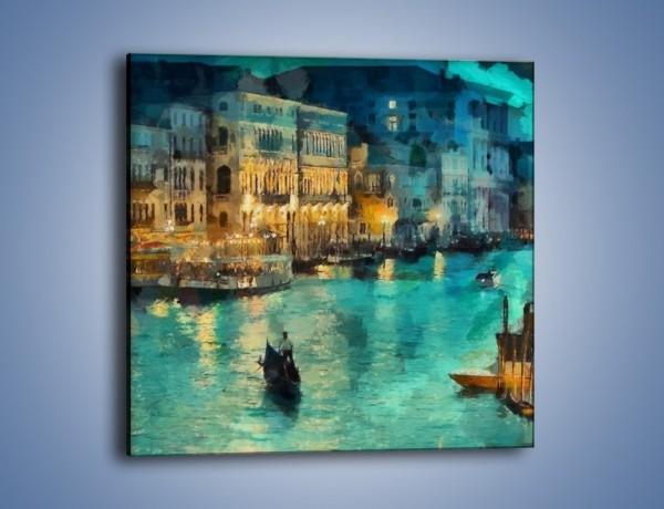 Obraz na płótnie – Wenecja nocą – jednoczęściowy kwadratowy GR354