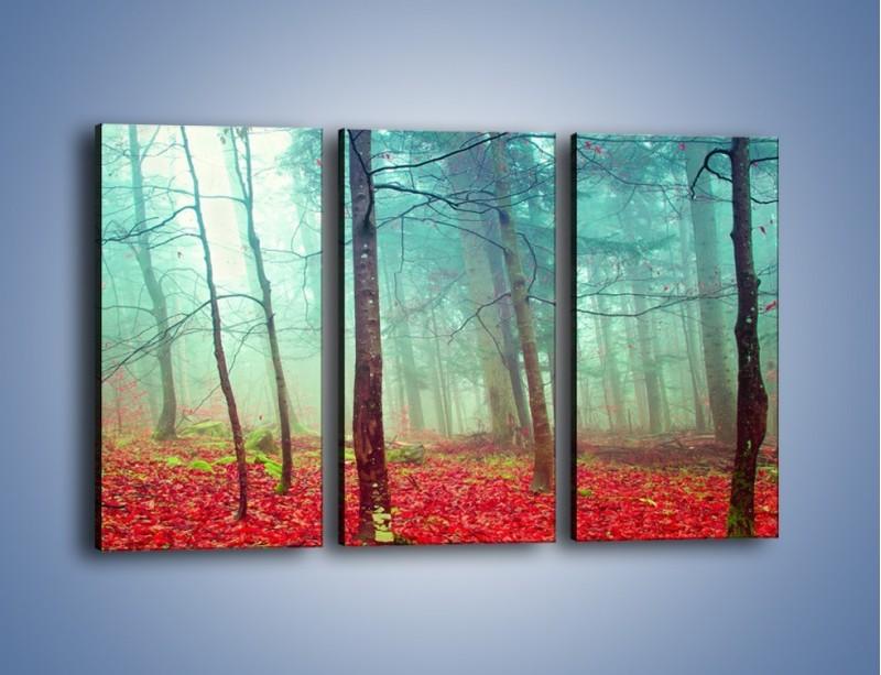Obraz na płótnie – Drzewka na czerwonym dywanie – trzyczęściowy KN1222AW2