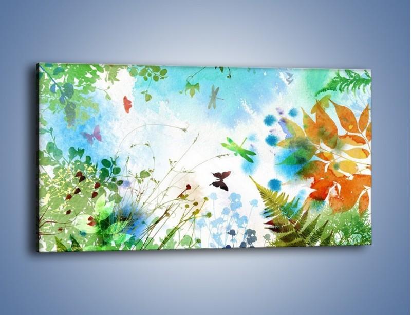 Obraz na płótnie – Baśniowa kraina w kolorach – jednoczęściowy panoramiczny GR270