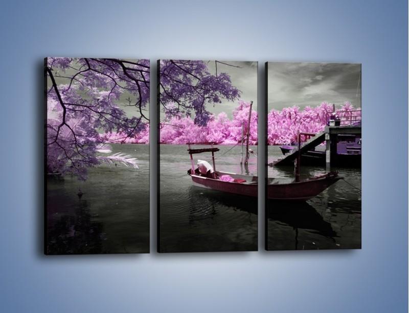 Obraz na płótnie – Krajobraz jak z japonii – trzyczęściowy KN1277AW2