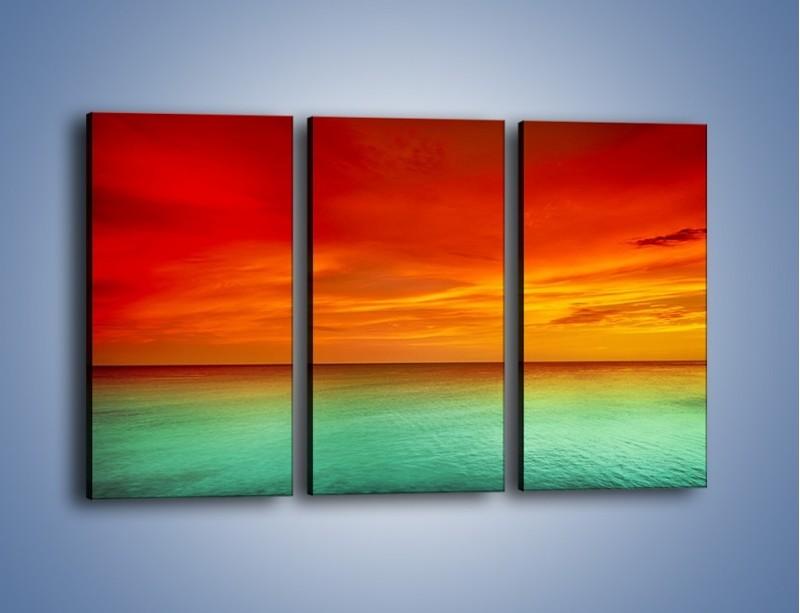 Obraz na płótnie – Horyzont w kolorach tęczy – trzyczęściowy KN1303AW2