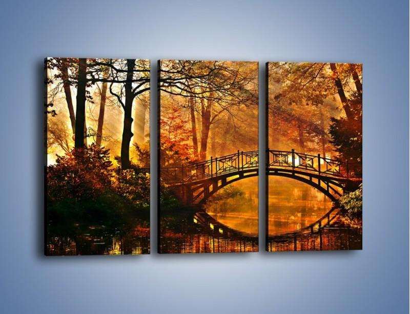 Obraz na płótnie – Cudowny spacer jesienną porą – trzyczęściowy KN1319AW2