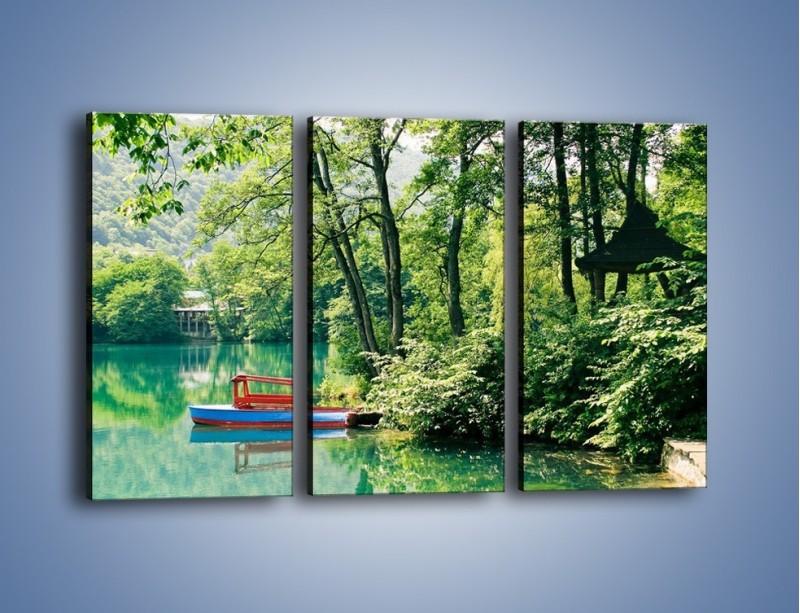 Obraz na płótnie – Wakacje nad jeziorem – trzyczęściowy KN155W2