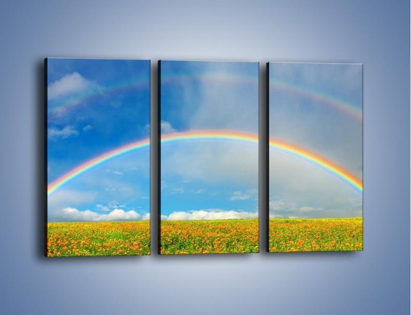 Obraz na płótnie – Urok kolorowej tęczy – trzyczęściowy KN406W2