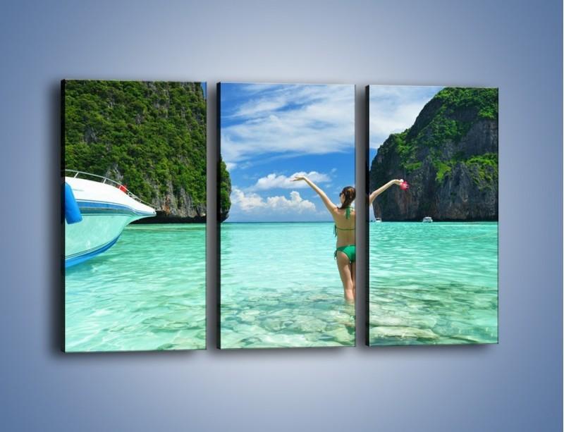 Obraz na płótnie – Udane wakacje w ciepłych krajach – trzyczęściowy KN530W2