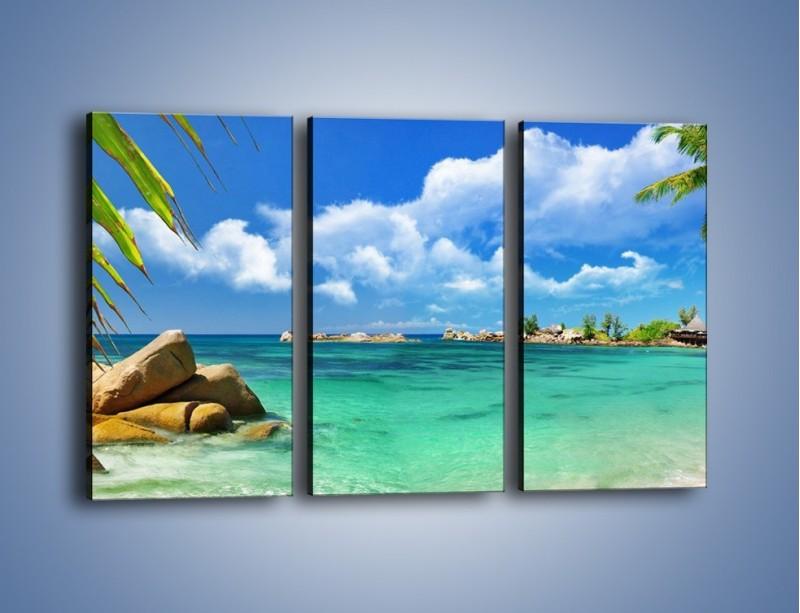 Obraz na płótnie – Tropikalna wyspa z katalogu – trzyczęściowy KN565W2