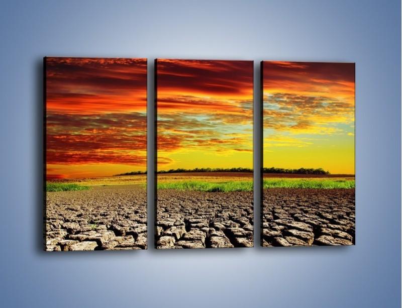 Obraz na płótnie – Spękane chmury i ziemia – trzyczęściowy KN602W2
