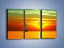 Obraz na płótnie – Rejs przy zachodzie słońca – trzyczęściowy KN723W2