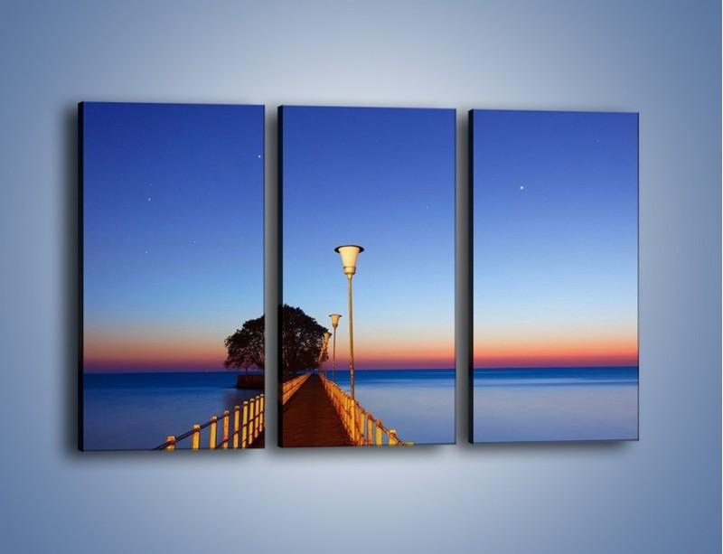 Obraz na płótnie – Wieczorny spacer po tafli morza – trzyczęściowy KN759W2