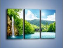 Obraz na płótnie – Cały urok górskich wodospadów – trzyczęściowy KN769W2
