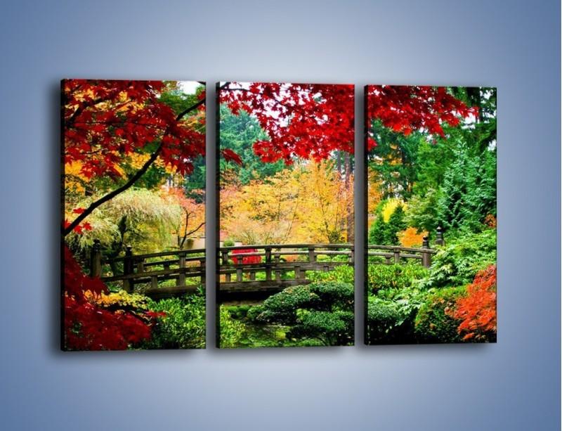 Obraz na płótnie – Mostem do roślinnego raju – trzyczęściowy KN782W2