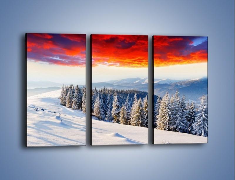 Obraz na płótnie – Cały urok gór zimą – trzyczęściowy KN805W2