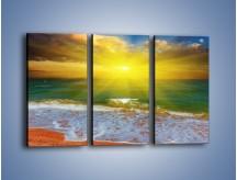 Obraz na płótnie – Mały krok do morza – trzyczęściowy KN842W2