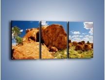 Obraz na płótnie – Kamienne bochenki chleba – trzyczęściowy KN860W2