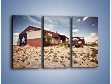 Obraz na płótnie – Autem przez texas – trzyczęściowy KN874W2