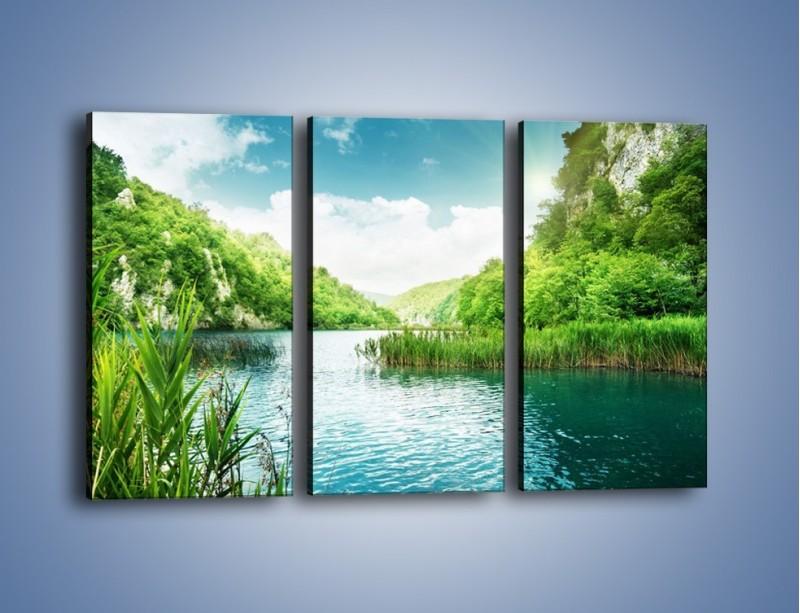 Obraz na płótnie – Wodnym śladem wśród zieleni – trzyczęściowy KN884W2